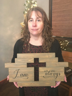 I Am With You Always Cutout Cross
