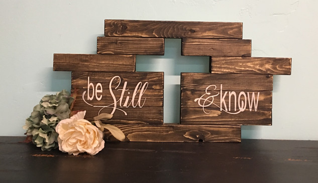 Be Still & Know Cutout Cross
