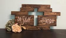 Be Still & Know Cutout Cross