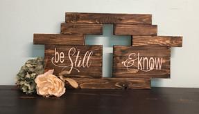 Cutout Cross - Be Still & Know