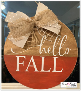 Hello Fall with Bow