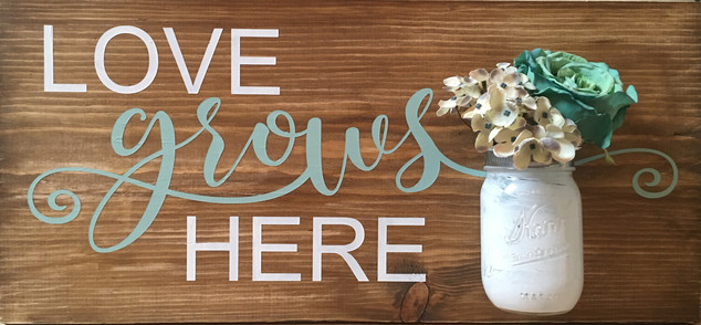 Love Grows Here w/Jar