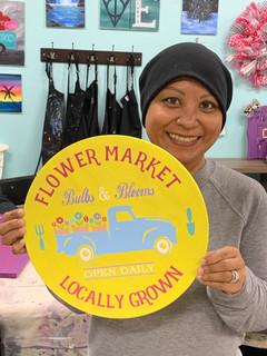 Flower Market Round