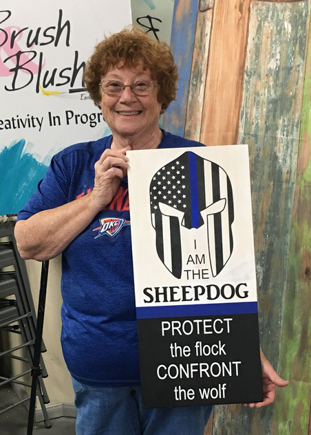 I Am The Sheepdog Blue Line
