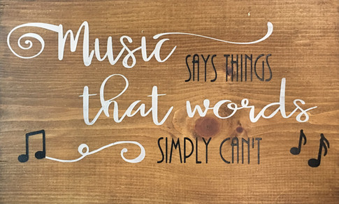 Music Says Things