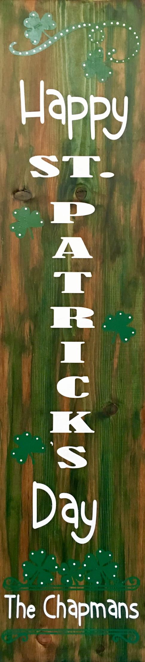 Happy St. Patrick's Day Porch Board