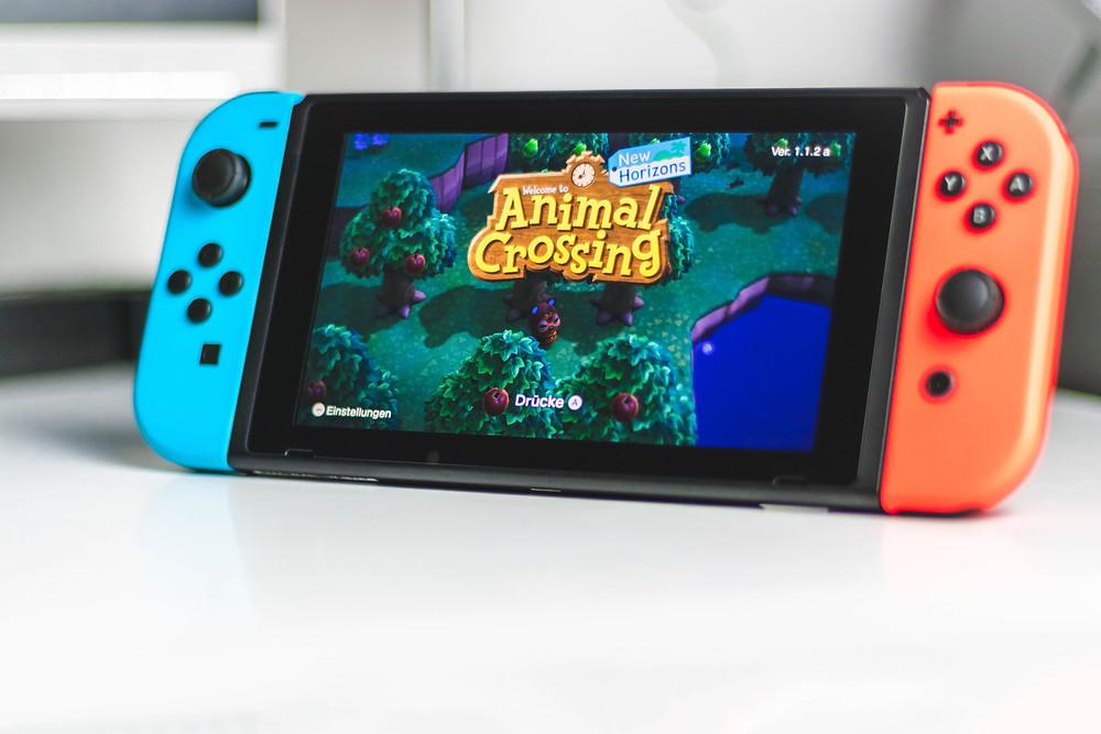 Nintendo Switch showing Animal Crossing game