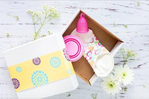 sanitary pad in a box