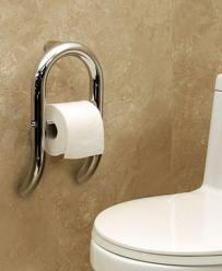 Toilet Paper Grab Bar Hoop - By The Best Home Guys of Wichita, KS