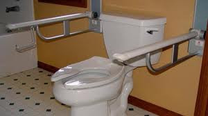 Toilet Grab Bars two sides - By The Best Home Guys of Wichita, KS