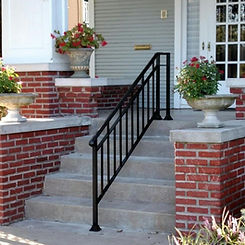 wrought iron railing home safety modifcation