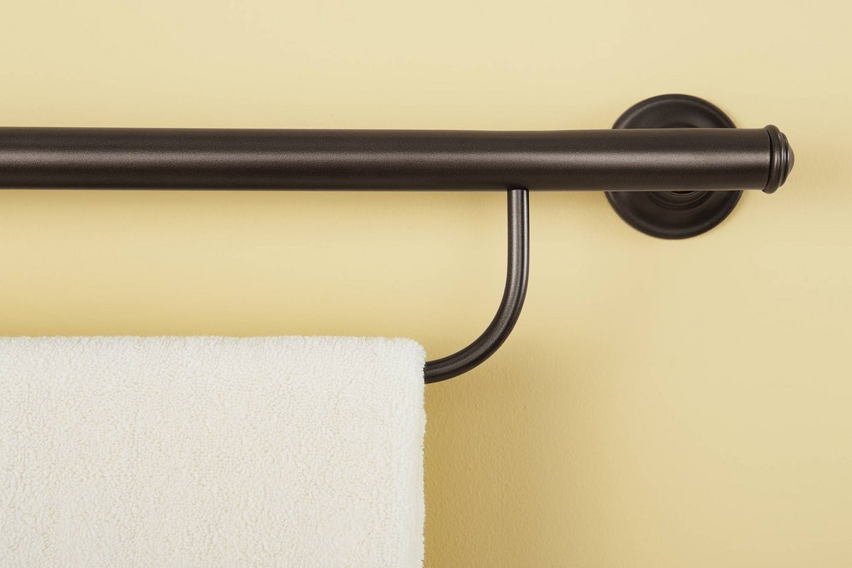 Moen Old World Bronze Towel Grab Bar - by The Best Home Guys of Wichita, KS