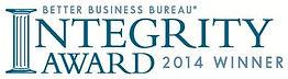 Better Business Bureau Integrity Award winner 2014 best home guys
