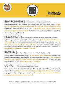 Creative Habits - CreativistaCoaching.jp