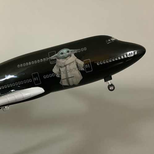 """Yoda Star Wars"" Inspired B747 Model Aircraft"