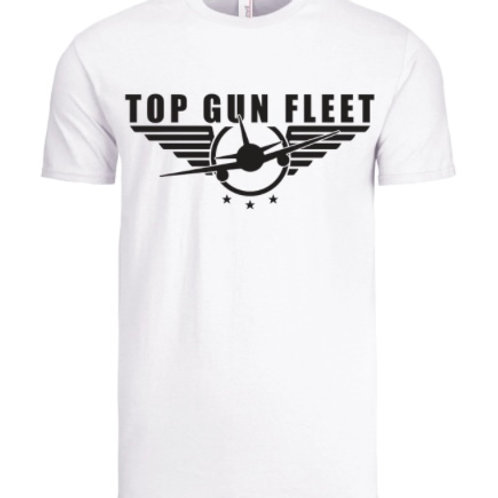 Top Gun Fleet - White T