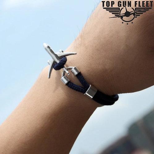 Top Gun Fleet Airplane Anchor Bracelet