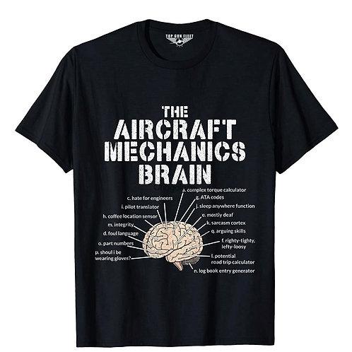 A/C Mx Brain Top Gun Fleet - Black T