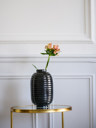 Vase lampion Noir granite