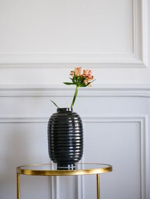 Vase lampion Noir granite