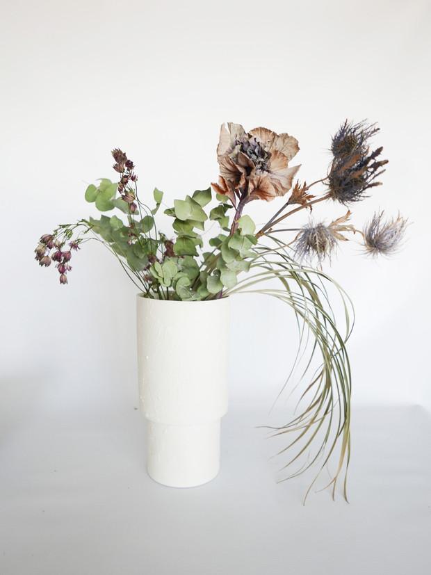 Vase Forme Blanc Brut