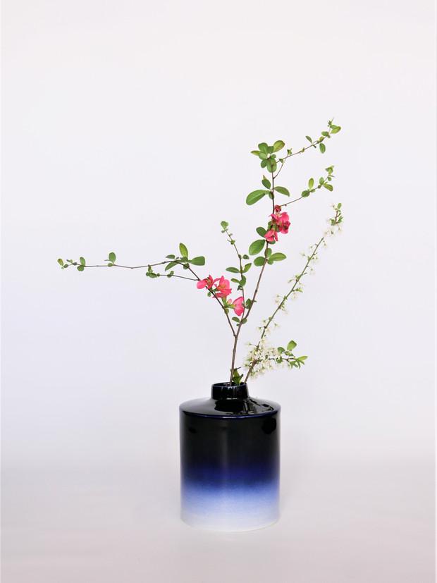 Vase Pilar Bleu Nuit