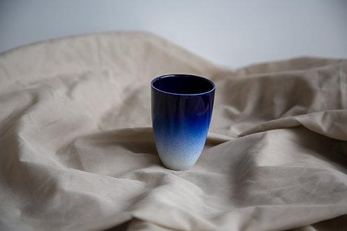 Tasse allongée Courbe Bleu Nuit
