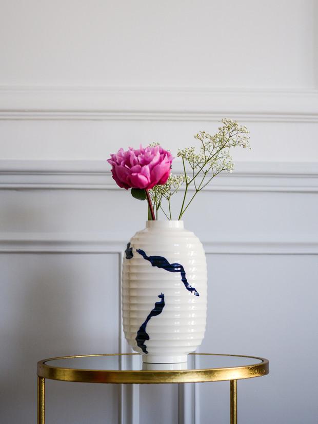Vase lampion Calligraphie