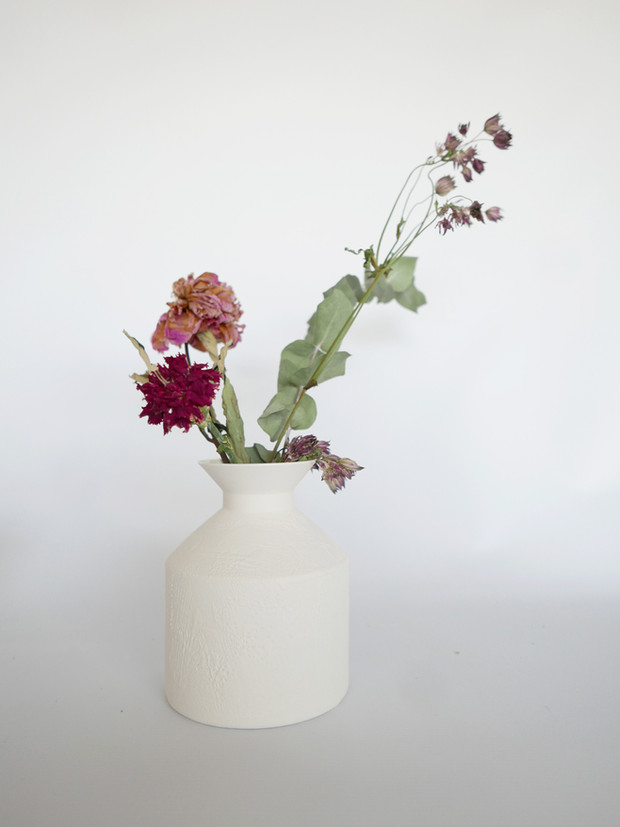 Vase Silo Blanc brut