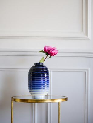 Vase Lampion Bleu Nuit