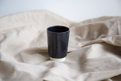 Tasse allongée Droite Noir Granite