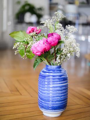 Vase Lampion Bleu Glace