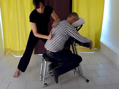 Présentation vidéo de mes séances de massage assis