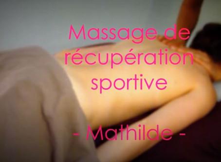 Massage de récupération sportive avec Mathilde