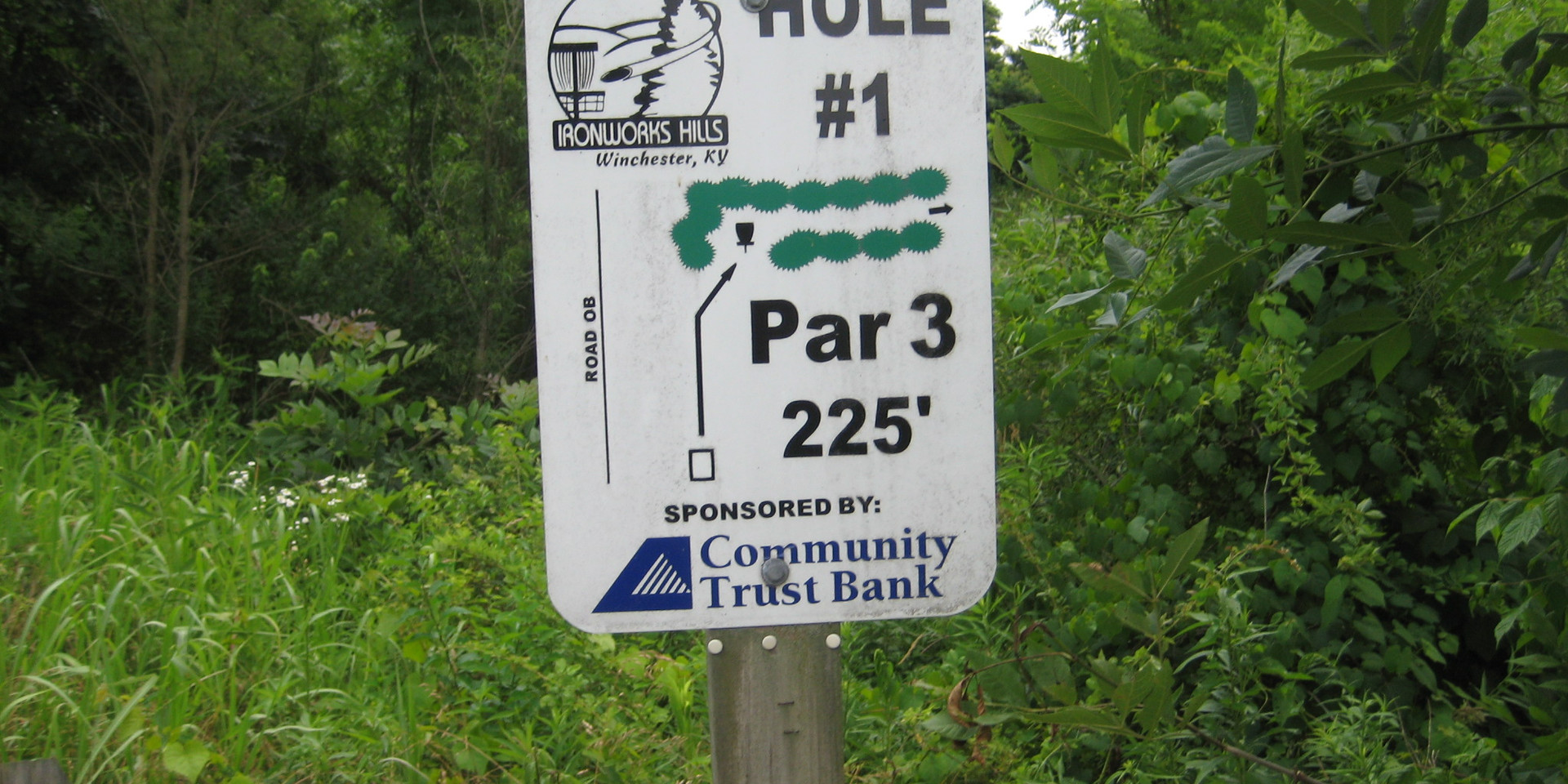 Disc Golf Course Hole 1 Sign.JPG