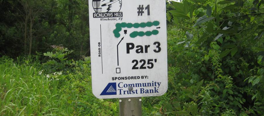 Disc Golf Course Hole 1 Sign.JPG