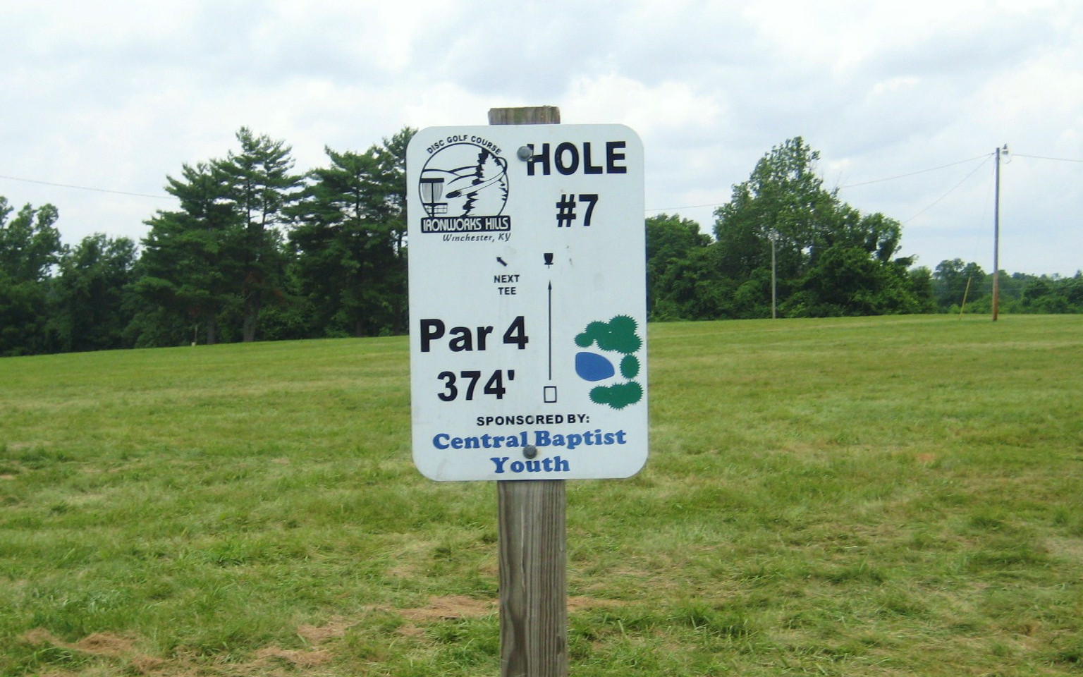 Disc Golf Hole 7 Sign.JPG