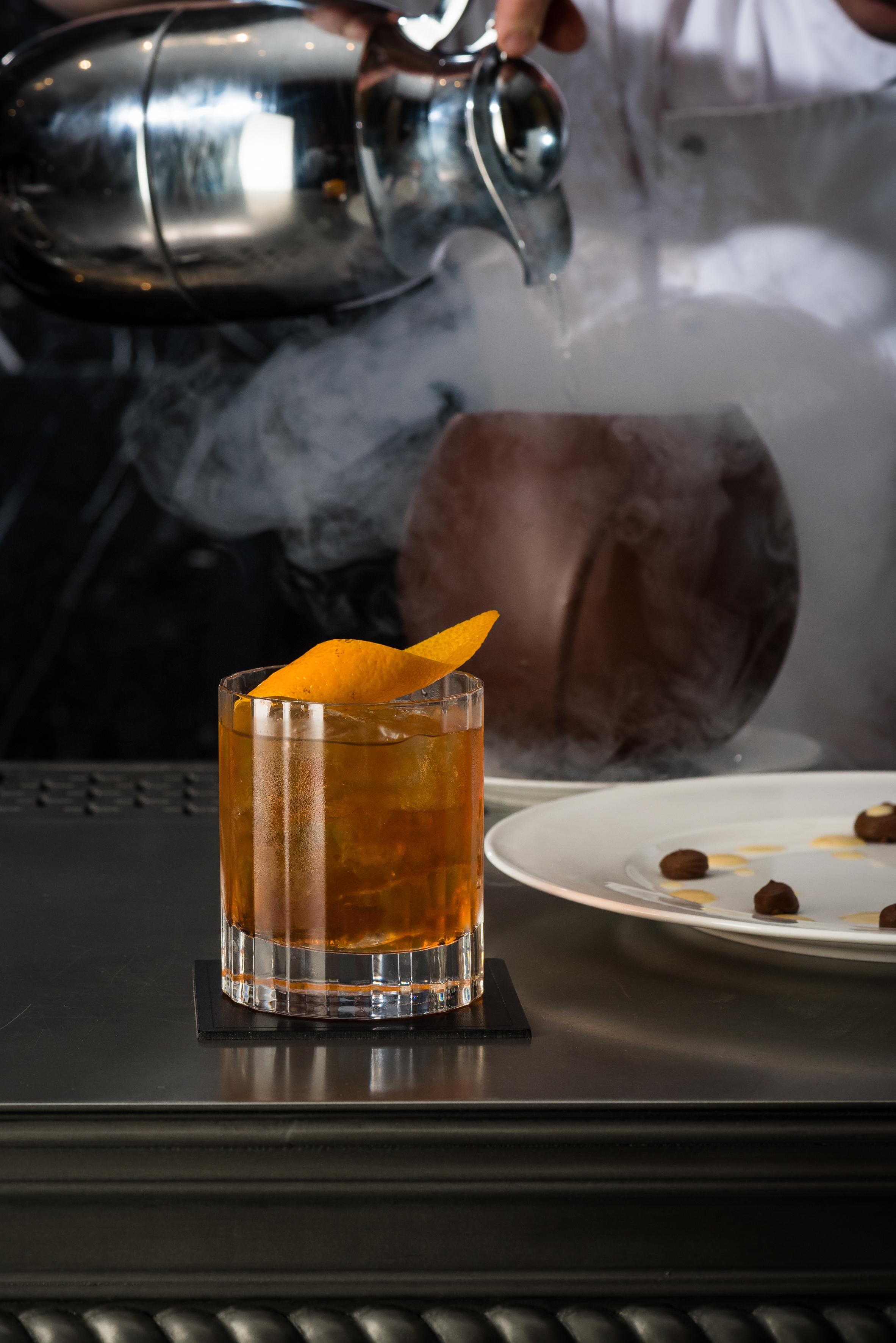Golden Liberty Cocktail & Choc Bomb