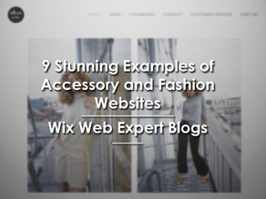 9 Stunning Examples of Accessory and Fashion Websites | Wix Web Expert Blogs