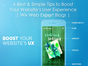 6 Best & Simple Tips to Boost Your Website's User Experience | Wix Web Expert Blogs