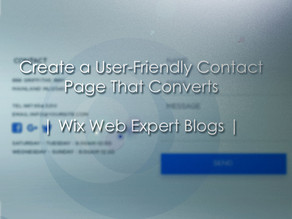 Create a User-Friendly Contact Page That Converts | Wix Web Expert Blogs