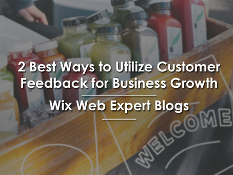 2 Best Ways to Utilize Customer Feedback for Business Growth | Wix Web Expert Blogs