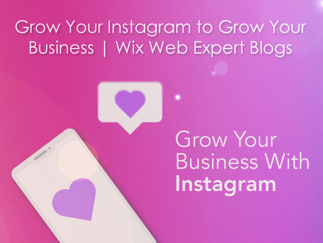 Grow Your Instagram to Grow Your Business | Wix Web Expert Blogs