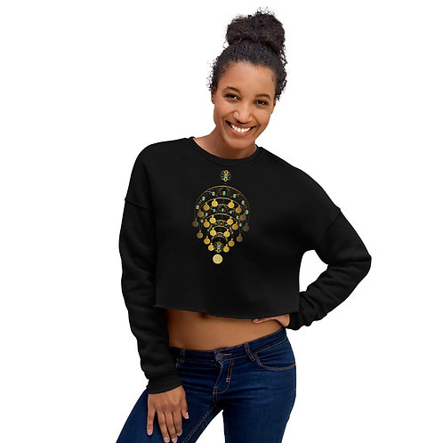 Ghawazee Moon Necklace Crop Sweatshirt