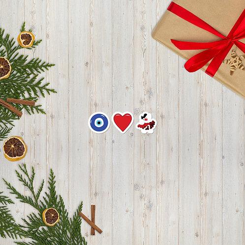 Eye Heart Bellydance Bubble-free stickers