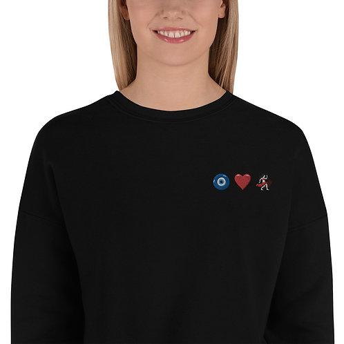 Eye Heart Bellydance Crop Sweatshirt