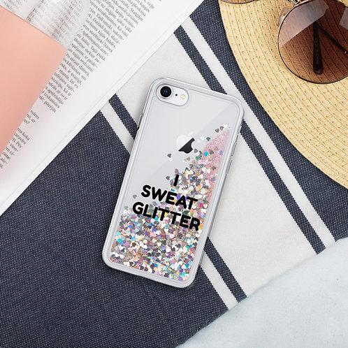 """""""I SWEAT GLITTER"""" Liquid Glitter Phone Case"""