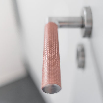 Shieldex copper tape handle cover applied to a door handle