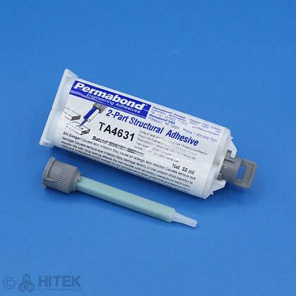 50ml dual cartridge of Permabond TA4631 acrylic adhesive with 90mm mixing nozzle