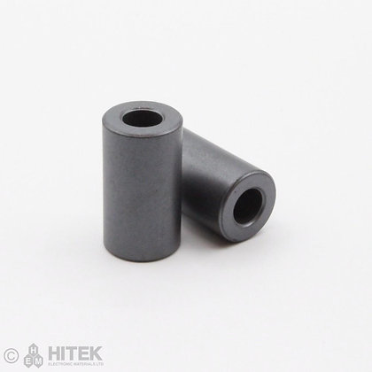 Pair of sleeve core ferrite beads measuring 15.9mm x 28.57mm x 7.87mm
